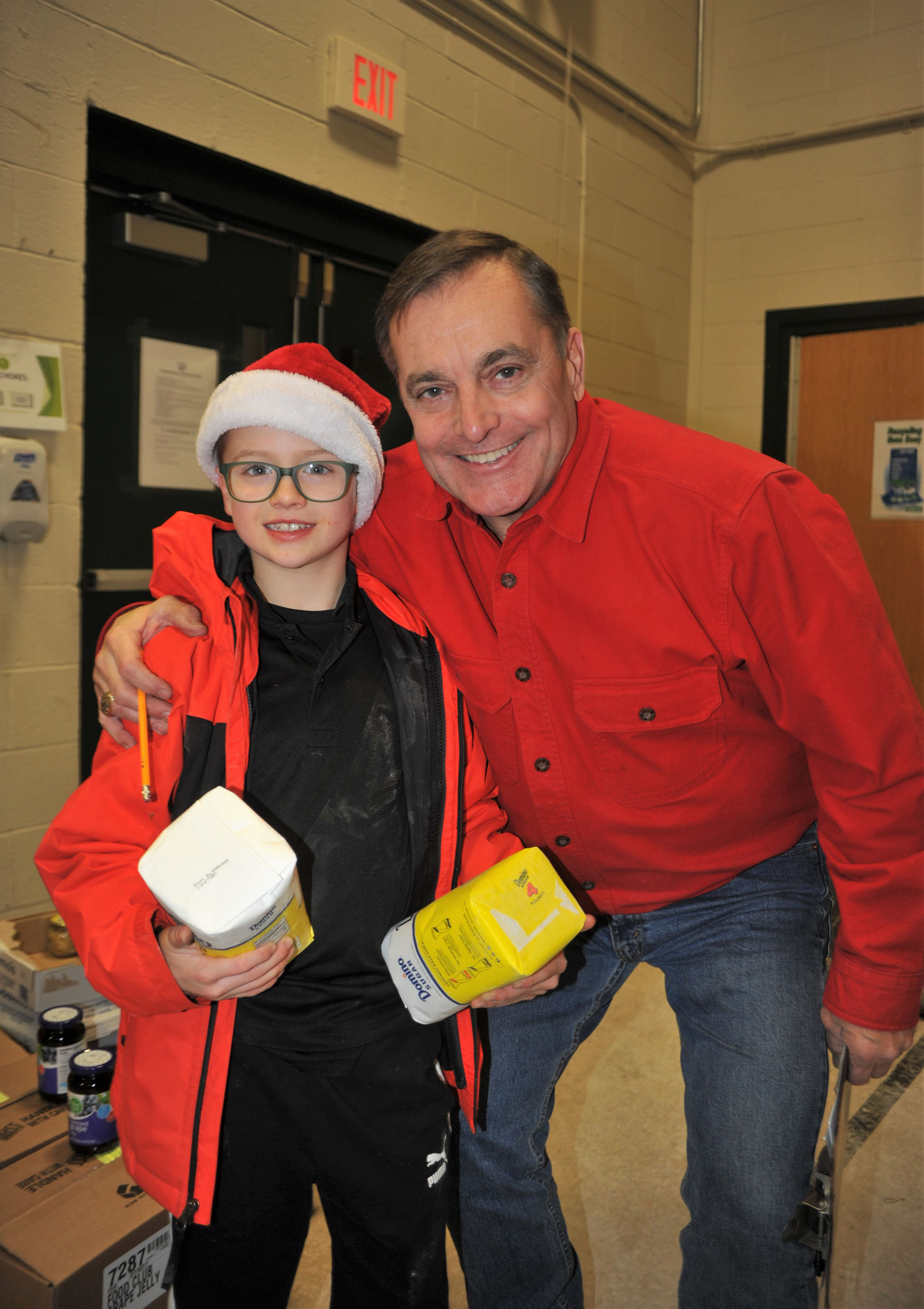 Al Letizio, Jr. at his company's annual food packing event.